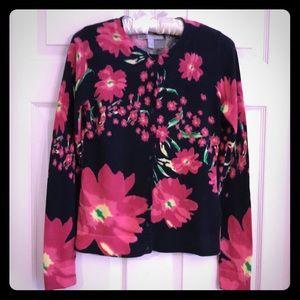 100% Cotton Floral Cardigan